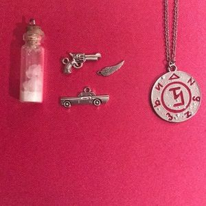 Supernatural charm and necklace set